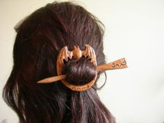 gift antique bat hair pin/shawl pin by theancientmuse on Etsy, $30.00