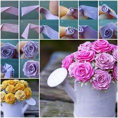DIY Beautiful Origami Rose  https://www.facebook.com/icreativeideas