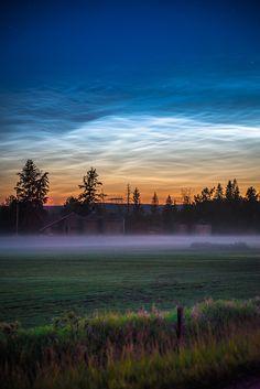 Noctilucent clouds over Edmonton, Alberta by Jesse Martineau / 500px