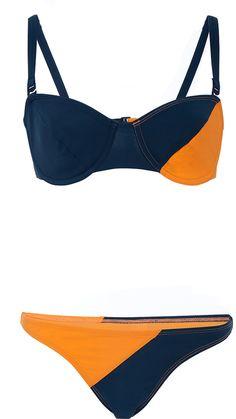 Flagpole Swim Color Block Underwire Bikini Set