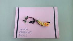 Caterpillar Birthday Card- We all know that the most exciting part about birthday is all the wishes that you get. Okay okay. It is the birthday cake. But a greeting card can make someone's birthday so much better in today's world of technology. Made by using the technique of paper quilling.  Is made to order. So ping me or leave me a comment.