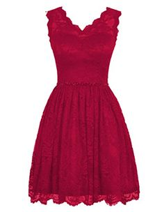 Diyouth Elegant Short V Neck Lace Flower Formal Bridesmaid Dress Dark Red Size 2 Diyouth http://www.amazon.com/dp/B00XY7BYEC/ref=cm_sw_r_pi_dp_BnWnwb1K0YTRS
