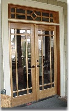 Craftsman wood doors - contemporary - front doors - other metro - by ...