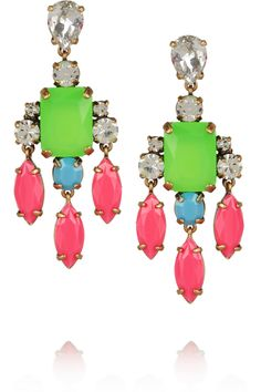 J.Crew | Collage crystal drop earrings | NET-A-PORTER.COM