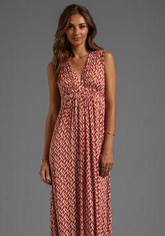 Rachel Pally Long Sleeveless Caftan Dress in Masala Labyrinth $224.00
