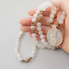 Mala beads(meditation beads) with Om symbol.