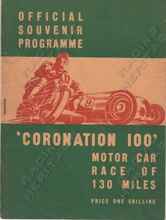 1939 Coronation 100 Official Souvenir Programme.  In good condition for year, pages yellowed with age and slight rust on staples, first inside page damaged  Price $25