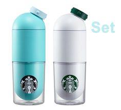 Korea Starbucks 2016 Summer Siren capsule waterbottle + Mint capsule waterbottle #Starbucks