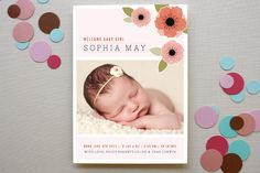 corner graphic | New Born Poppy Birth Announcements by Moe and Me at minted.com
