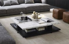 Bristol coffee table by Poliform I love the marble. There should be more marble in my life.