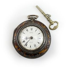 c.1860 : Edward Prior Brittish, Shell & Silver Triple Case Pocket Watch Fusee | Jewelry & Watches, Watches, Parts & Accessories, Pocket Watches | eBay!