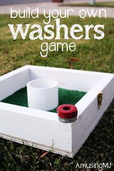 Fun DIY Backyard Games - DIY Washers Game - Cool DIY Yard Game Ideas for Adults, Teens and Kids - Easy Tutorials for Cornhole, Washers, Jenga, Tic Tac Toe and Horseshoes - Cool Projects for Outdoor Parties and Summer Family Fun Outside Diy Yard Games, Lawn Games, Diy Games, Party Games, Diy Yard Toys, Cookout Games, Relay Games, Free Games, Tic Tac Toe