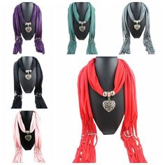Women Lady Soft Tassel Beads Bohemian Peach Heart Jewelry Pendant Necklace Scarves Wrap Shawl Scarf. Unique design combined drop necklace with scarf;. Keep you warm and fashion in same time;. Color:Black,White,Red,Purple,Gray,Green,Pink. | eBay!