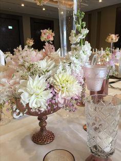 rose gold Dekoration für die Hochzeit
