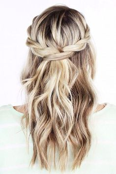 half up twisted hairstyle