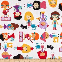 Robert Kaufman Girlfriends Career Girls Bright from @fabricdotcom  Designed by Ann Kelle for Robert Kaufman, this cotton print fabric is perfect for quilting, apparel and home decor accents. Colors include red, orange, pink, black, yellow, green, purple, tan and brown.