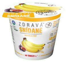 Zdravá snídaně banán a fíky