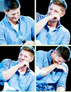Jensen at Jibcon2014 - so much to love about this man, especially his laugh!