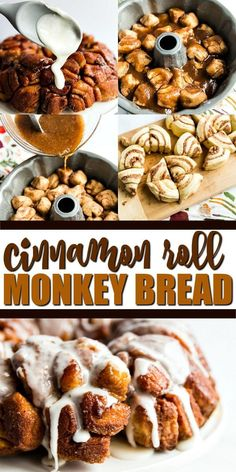 Two of my all time favorite easy breakfast recipes have to be cinnamon rolls and monkey bread. So this cinnamon roll monkey bread recipe was a no brainer for me. With only 5 ingredients, this recipe c Homemade Monkey Bread, Apple Monkey Bread, Biscuit Cinnamon Rolls, Cinnamon Roll Monkey Bread, Monkey Bread Easy, Pillsbury Monkey Bread, Cinnamon Roll Casserole, Hamburger Casserole, Sweets