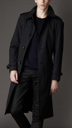 BURBERRY Long Cotton Gabardine Car Coat. burberry cloth