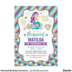 Shop Twins Mermaid Birthday Invitation Girls Pool Party created by BlueBunnyStudio. Girl 2nd Birthday, Mermaid Birthday, First Birthday Parties, 1st Birthday Party Invitations, Birthday Invitation Templates, Mermaid Invitations, Invites, Twins 1st Birthdays, Under The Sea Party
