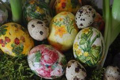 Decoupaged Easter Eggs - specially for the little person in your life!