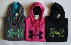 NWT Womens Under Armour Storm Fleece Big Logo Hoodie Hoody Sweatshirt Pullover #UnderArmour #Hoodie