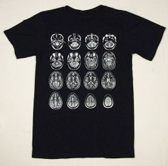 MRI Series Tshirt  White on Black  GEARY by gearyprintworks, $20.00