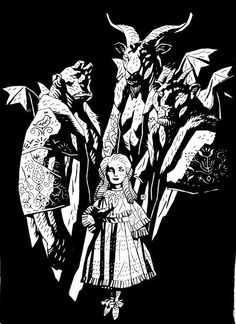 Mignola Girl with Demons