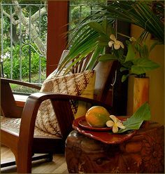 Indonesian Decor is Everywhere on Pinterest Ideas, Fruit, Decor Style, Living Rooms, Bali Style, Floral, Interiors, British Colonial Style, Tropical Islands Decor