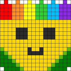 Kawaii Crayon Box Perler Bead Pattern / Bead Sprite