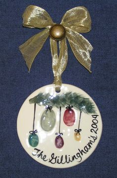 family+thumbprint+ornament | Thumbprint Family Ornament  I want to try this