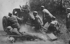German soldiers in action