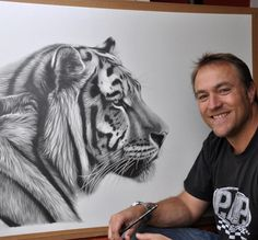 Digital Gorilla Drawing Gorillas Pinterest Tatting - Stunning drawings of endangered wild animals by richard symonds