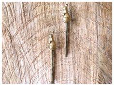 CONEJITOS HORQUILLAS -  Despeinada Hairpins Gold Romantic Vintage Style Retro New Collection Bridal Wedding Nature Gift Handmade Hair Bunny Rabbit Horquillas Conejo Dorada Romántica Boda Naturaleza Pelo Bosque