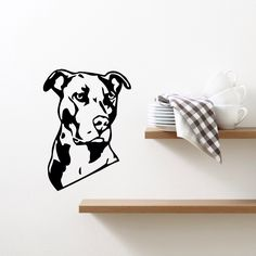 Wall Stickers Vinyl Decal Pitbull Dog House Pets Friend Guard Cool Living Room Decor (m384) by Wallstickers4you on Etsy https://www.etsy.com/listing/218843536/wall-stickers-vinyl-decal-pitbull-dog
