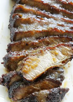 A basic guide for how to grill brisket on a gas grill that includes recipes for both a rub and apple butter barbecue sauce. Grilled Brisket, Beef Brisket Recipes, Barbecue Sauce, Bbq, Apple Butter, I Foods, Grilling, Bacon, Pork