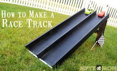 Weekend DIY Project – Wood Race Car Track