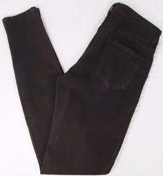CJ Cookie Johnson Joy Legging Jeans Dark Brown Low Rise Skinny sz 26 X 32 #CJbyCookieJohnson #Leggings