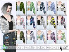 "sgnd-creations: "" Back with a new recolor! This time I bring you some cute printed cropped jackets on a mesh originally by @ridgeport Be sure to also grab the original mesh HERE for these to show in..."