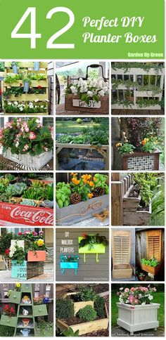42 Perfect DIY Planter Boxes ~ start now and they'll be ready for summer flowers!