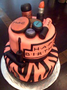 make-up birthday cake
