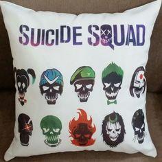 Almofada Suicide Squad Esquadrão Suicida