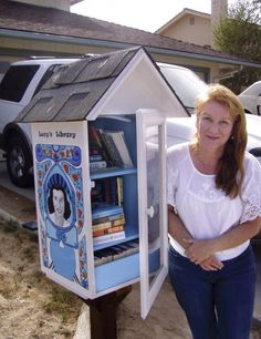 Little Free Library   We need to get someone to build this for Ozark. What a grand idea!