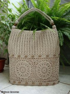 International Crochet Patterns, I don't normally like crocheted bags but this is...