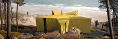 seastar shaped trekking cabin on the baltic coast proposed by studio prescription