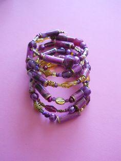 Violet Wrapped Bracelet