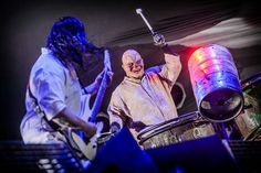 """Mick Thomson and Shawn """"Clown"""" Crahan"""