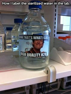 A chemistry teacher with a sense of humor…