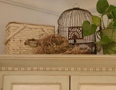 Decorating With Bird Cages, and Other Bird Inspired Accessories., The bird cage is equally a house for your birds and an ornamental tool. You are able to select whatever you want among the bird cage versions and get far more particular images. Top Of Cabinets, Above Cabinets, Decorating Above Kitchen Cabinets, Dining Room Hutch, Kitchen Hutch, Dining Table, French Country Decorating, French Decor, Country French